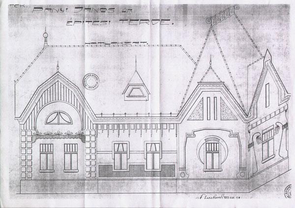 Crtež fasade iz originalnog plana