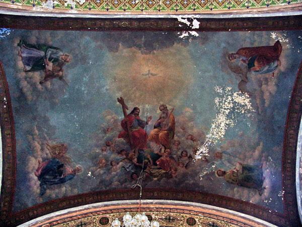 zrenjanin uspenska crkva Zidna slika na svodu oltarskog traveja