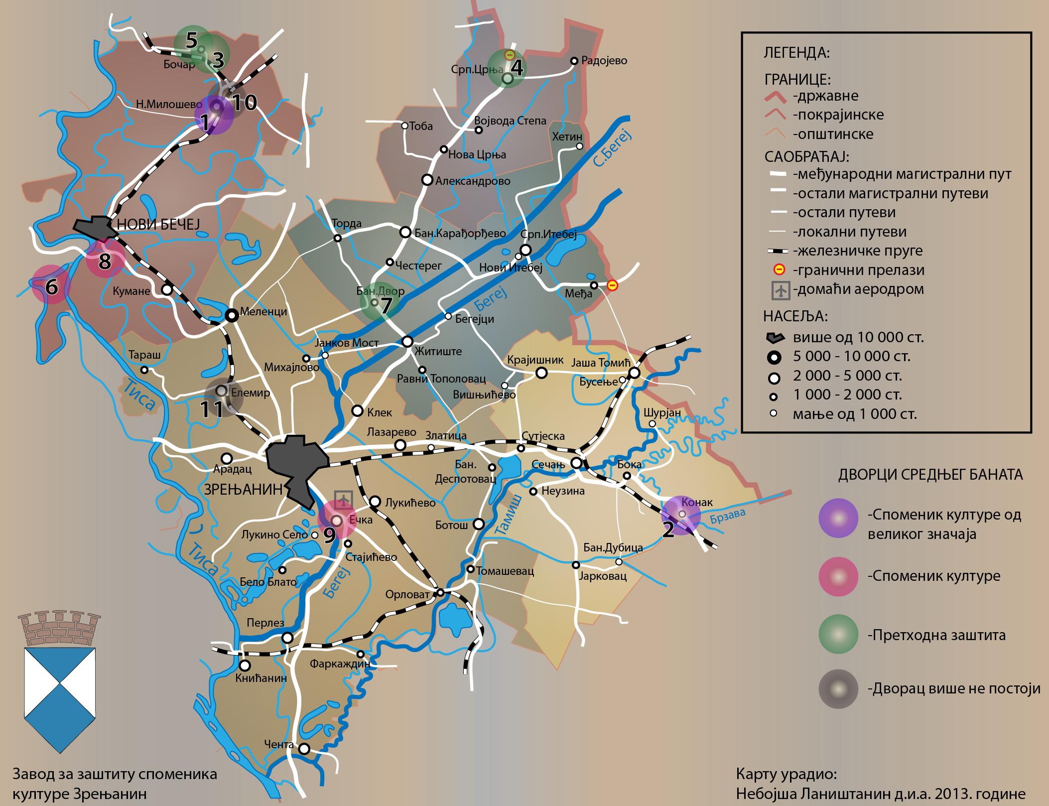 dvorci vojvodine mapa Dvorci na teritoriji srednjeg Banata   Zavod za zaštitu spomenika  dvorci vojvodine mapa